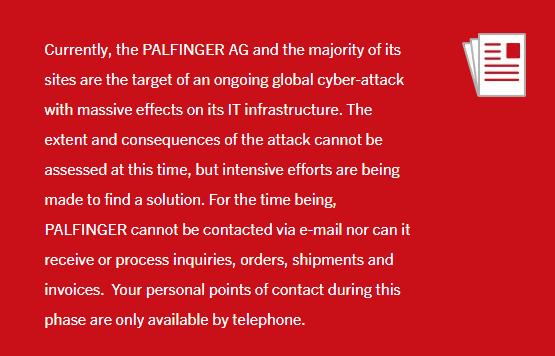 Notice on Palfinger's Site
