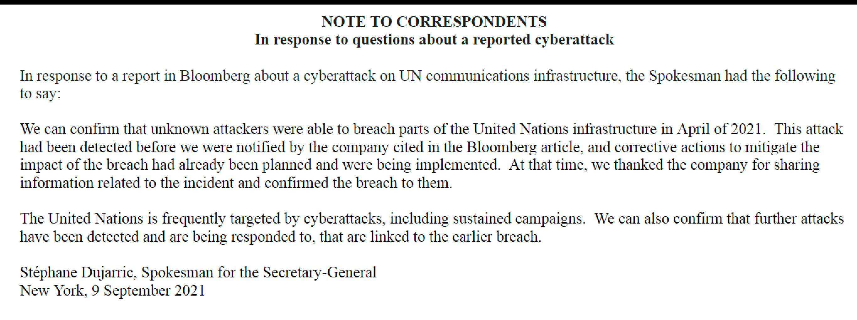 Statement by U.N.