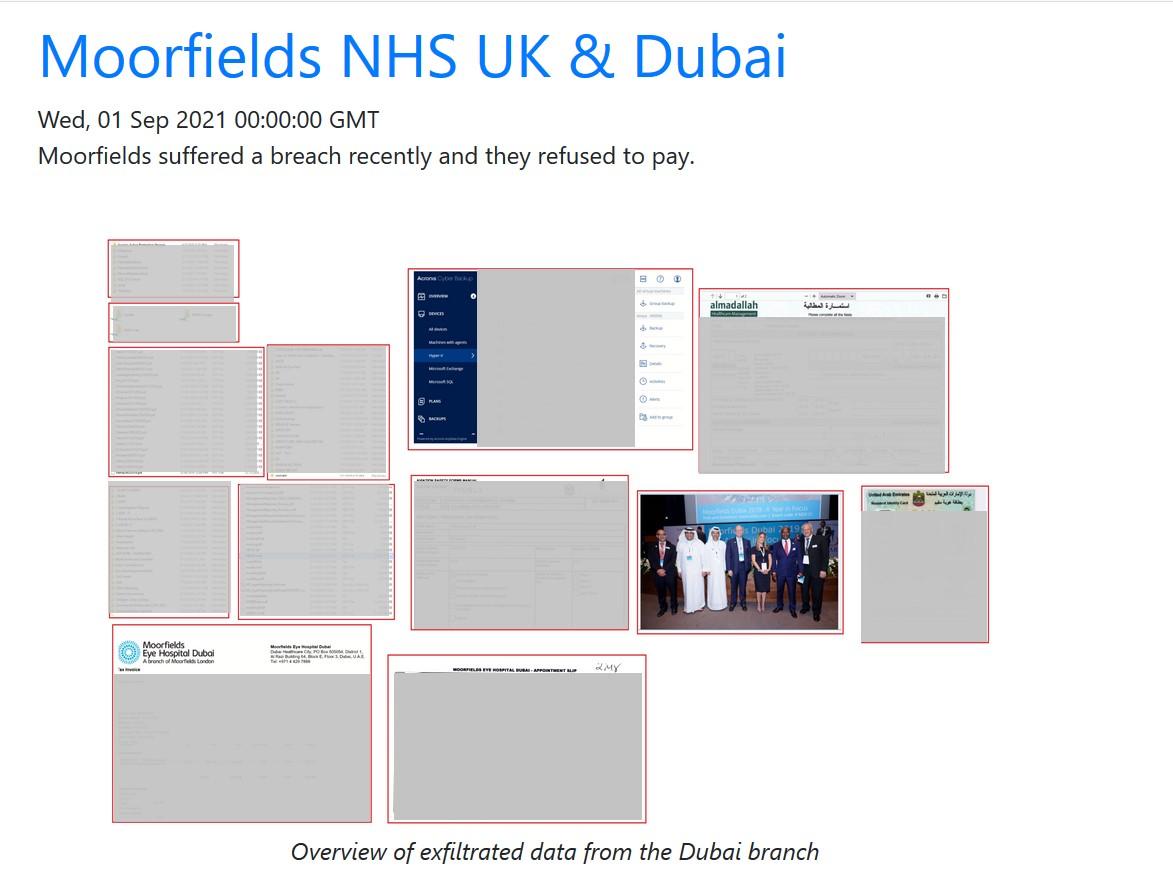 Screencap from AvosLocker Leak Site