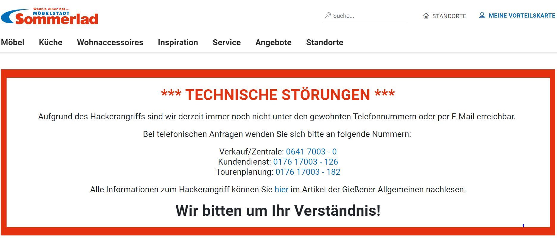 Malfunction Notice -- German