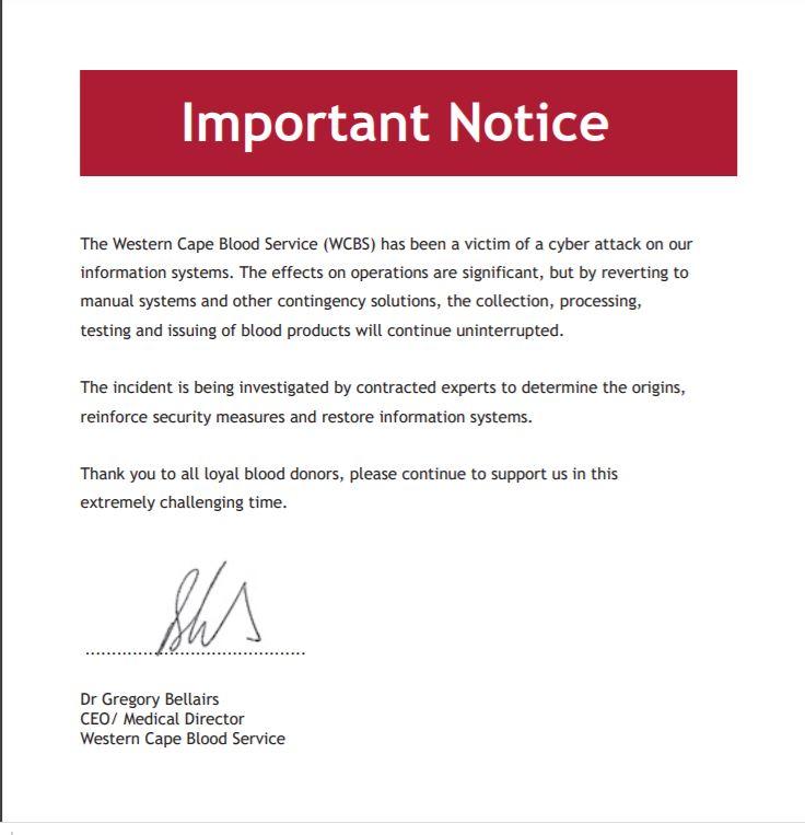 Web Site Notice