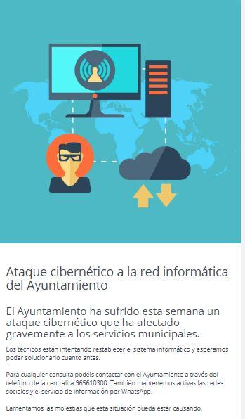 Xixona notice of cyberattack
